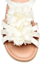 Flowery sandals - White - Kids | H&M 3