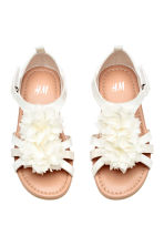 Flowery sandals - White - Kids | H&M CN 1