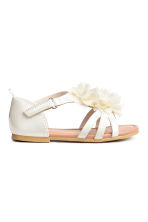 Flowery sandals - White - Kids | H&M CN 2