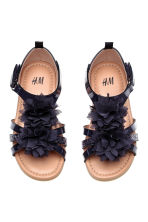 Flowery sandals - Dark blue -  | H&M CA 2