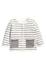 Glittery cardigan - White/Grey striped - Kids | H&M 1