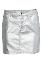 Denim skirt - Silver - Ladies | H&M 2