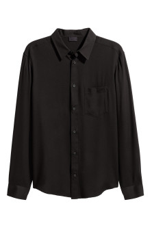Straight-cut viscose shirt