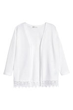 Fine-knit cardigan - White -  | H&M 2