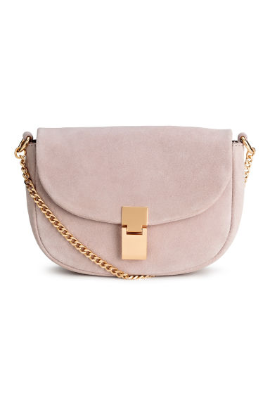 Suede shoulder bag - Powder pink - Ladies | H&M 1