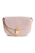 Suede shoulder bag - Powder pink - Ladies | H&M CN 1