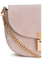 Suede shoulder bag - Powder pink - Ladies | H&M CN 3