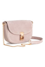 Suede shoulder bag - Powder pink - Ladies | H&M CN 2