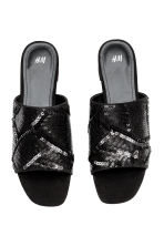 Sequined mules - Black - Ladies | H&M 2