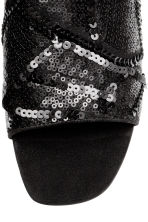 Sequined mules - Black - Ladies | H&M 3