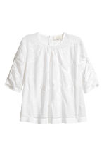Embroidered blouse - White/Embroidery -  | H&M 2