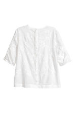 Embroidered blouse - White/Embroidery -  | H&M 3