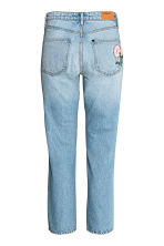 Straight High Ankle Jeans - Ljus denimblå/Blommig -  | H&M FI 2