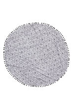 Serviette de plage ronde - Blanc/gris anthracite - Home All | H&M FR 2