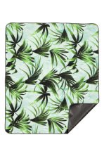 Picnic blanket - Mint green/Palm leaf - Home All | H&M CN 2
