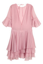 Lyocell-blend tiered dress - Pink -  | H&M 3