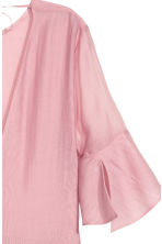 Lyocell-blend tiered dress - Pink -  | H&M 4