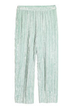 Crushed velvet trousers - Mint green -  | H&M 2