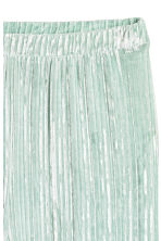 Crushed velvet trousers - Mint green -  | H&M 3