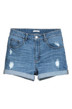 Denim shorts - Denim blue - Ladies | H&M CN 2