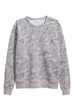 Long-sleeved sports top - Grey/Patterned - Men | H&M CN 2