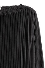 Pleated cropped top - Black - Ladies | H&M CN 3