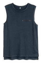 Vest top with a chest pocket - Dark blue - Men | H&M 2