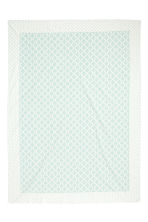 Patterned cotton tablecloth - White/Mint green - Home All | H&M CN 2