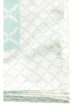 Patterned cotton tablecloth - White/Mint green - Home All | H&M CN 3