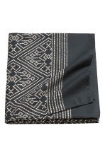 Patterned cotton tablecloth - Anthracite grey/Natural white - Home All | H&M CN 1