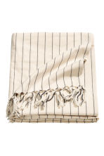 Fringed tablecloth - Natural white/Striped - Home All | H&M CN 2
