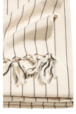 Fringed tablecloth - Natural white/Striped - Home All | H&M CN 3
