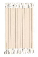 Fringed tea towel - Natural white/Striped - Home All | H&M CN 1
