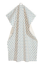 Tea towel - Natural white/Patterned - Home All | H&M CN 2