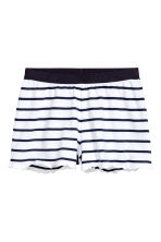 Jersey pyjamas - White/Dark blue/Striped -  | H&M 2