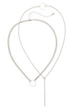 2-pack necklaces - Silver - Ladies | H&M CN 1