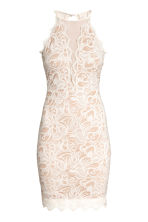 Short lace dress - Natural white - Ladies | H&M 2