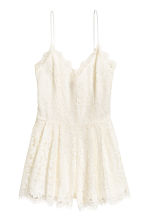 Lace playsuit - Natural white -  | H&M 2