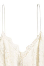 Lace playsuit - Natural white -  | H&M 3