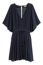Short chiffon dress - Dark blue - Ladies | H&M 2