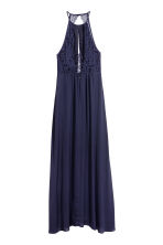 Maxi dress with lace details - Dark blue - Ladies | H&M CN 3
