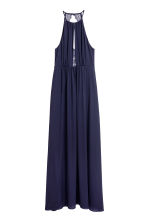 Maxi dress with lace details - Dark blue - Ladies | H&M CN 2