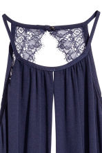 Maxi dress with lace details - Dark blue - Ladies | H&M 4