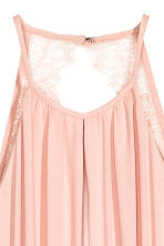 Maxi dress with lace details - Powder pink - Ladies | H&M 3