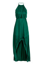 Long wrap dress - Emerald green - Ladies | H&M CN 2