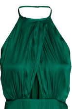 Long wrap dress - Emerald green - Ladies | H&M CN 3