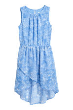 Chiffon dress - Blue/Floral -  | H&M CN 2