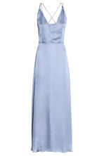 Long chiffon dress - Pigeon blue - Ladies | H&M 2
