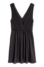 V-neck dress - Black - Ladies | H&M CN 2
