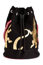 Printed backpack - Black/Gold - Kids | H&M CN 1